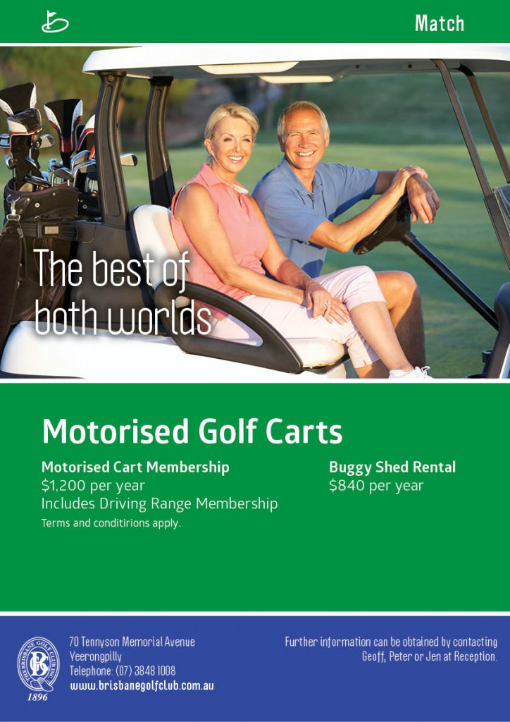 BGC Poster Match Motorised Golf Carts