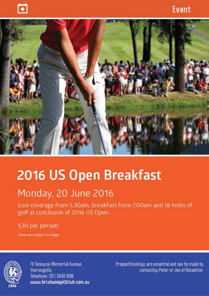 BGC Poster Event US Open Breakfast