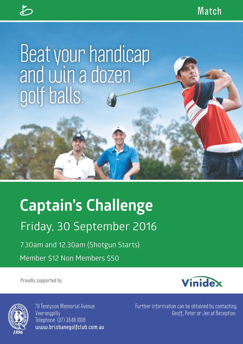 BGC Poster Match Captain Challenge 30 Sept