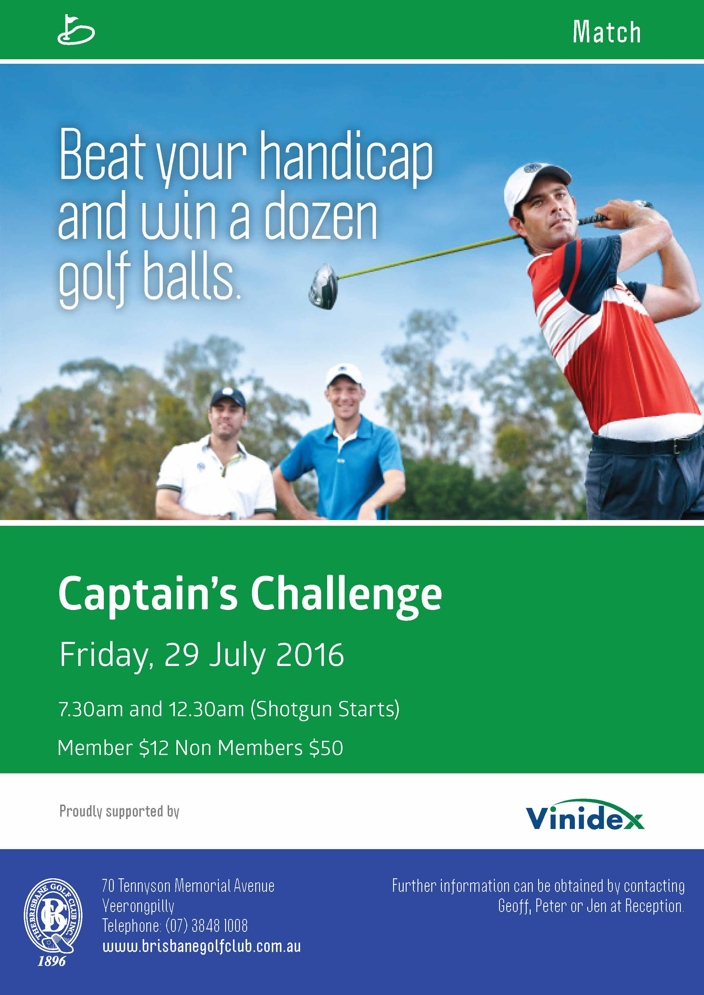 BGC Poster Match Captain Challenge 29 July